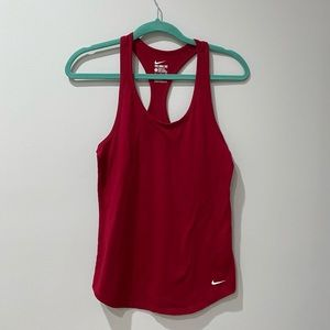 NIKE Red Cotton Athletic Tank